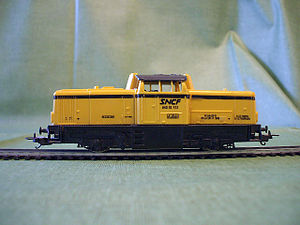 Lima (models) - A simplified HO scale model of SNCF diesel locomotive made for the European markets.