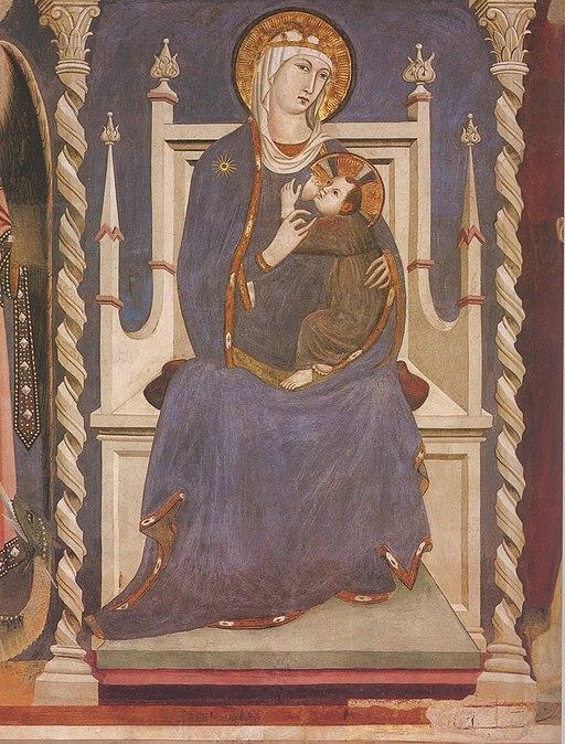 Lippo Memmi, Madonna col bambino, Sant'Agostino, San Gimignano