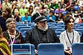 Lisa Tuttle, George R. R. Martin and Sibel Kekilli at the Hugo Award Ceremony at Worldcon 75 in Helsinki.jpg