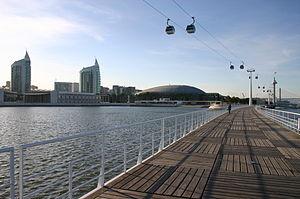 "Global view of the central ""Parque das Nações"" in Lisbon."