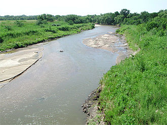 Little Arkansas River - The Little Arkansas River near Sedgwick, Kansas