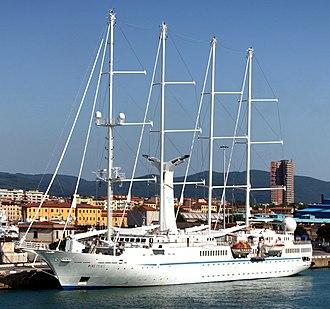 Windstar Cruises - Image: Livorno Wind Spirit (cropped)