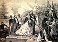 Llegada del Emperador Maximiliano y la Emperatriz Carlota al puerto de Veracru, México.jpg