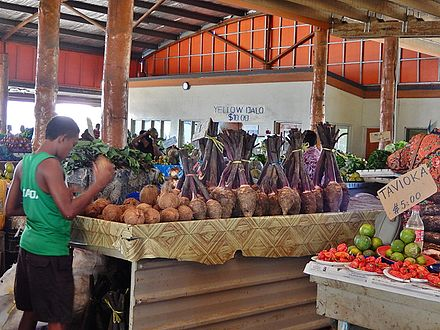 Taro and coconuts for sale in Nadi