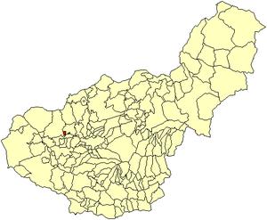 Valderrubio - Image: Location Valderrubio