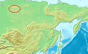 Reindeer in Russia - Putoran Mountains Taimyr reindeer winter taiga pastures