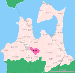 Location of Kuroishi city, Aomori prefecture, Japan.svg