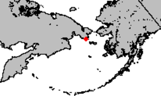 Providence Bay - Location of Providence Bay in the Bering Sea