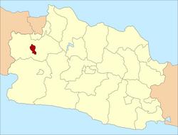 Peta lokasi Kota Bogor