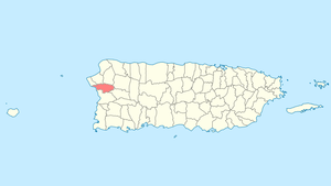 Location of Añasco in Puerto Rico