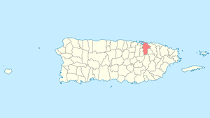 Location of San Juan in Puerto Rico