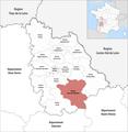 Locator map of Kanton Lussac-les-Châteaux 2019.png