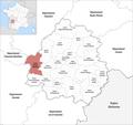 Locator map of Kanton Montpon-Ménestérol 2019.png