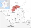Locator map of Kanton Valençay 2019.png
