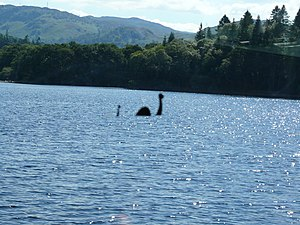 English: Apparently a sighting of the Loch Nes...