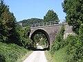 Log pri Brezovici-bridge over former railway line.jpg