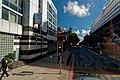 London - Euston Road - View ENE towards British Library & St Pancras International Railway Station.jpg