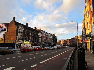 Finchley Road - Finchley Road in the Finchley Road lower part of Hampstead, London, England