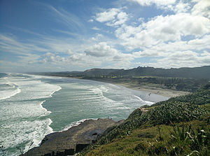Muriwai - Looking north from the gannet colony outlook