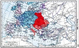 Louis's kingdoms and his vassal territories