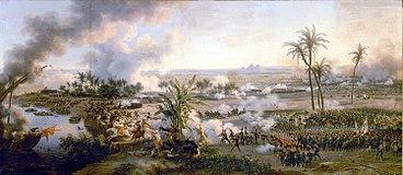 Die Schlacht bei den Pyramiden (Ölgemälde von Louis-François Lejeune, 1808) (Quelle: Wikimedia)