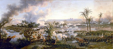 Battle of the Pyramids on 21 July 1798 by Louis-Francois, Baron Lejeune, 1808 Louis-Francois Baron Lejeune 001.jpg