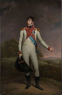 King of Holland, brother of Napoleon Bonaparte, member of the House of Buonaparte