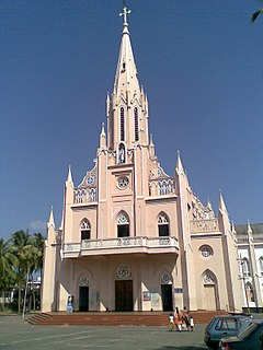 Our Lady of Lourdes Metropolitan Cathedral Church in Kerala, India