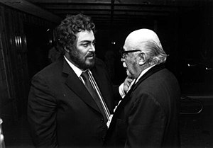 Emerson Buckley - Buckley with Luciano Pavarotti