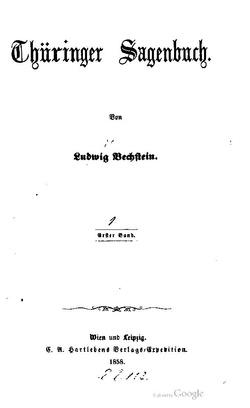 Thüringer Sagenbuch Wikisource
