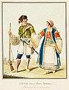Luigi del Giudice: Arbëresh-Tracht von Villa Badessa, zwischen 1777 und 1825