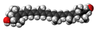 Lutein molecule spacefill.png