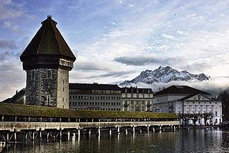 Lucerne - Kapellbrücke over the Reuss