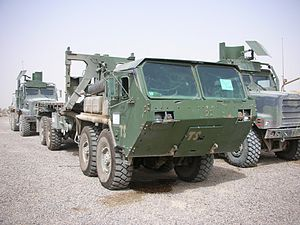 Logistics Vehicle System - LVS self-loader variant (MK48/18A1) with MAK Armor-kit