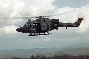 Multi-National Division (South-West) (Bosnia) - British Lynx Helicopter in Bosnia, May 1996