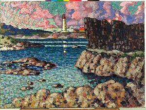 """Vilsandi - """"Landscape of Vilsandi"""",  by Estonian artist Konrad Mägi (1913-1914)."""