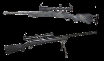 "M24 של צבא ארצות הברית (למעלה) ו-M24 של צה""ל (למטה)."