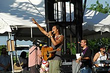 Michael Franti and Spearhead performing at Wakarusa 2006