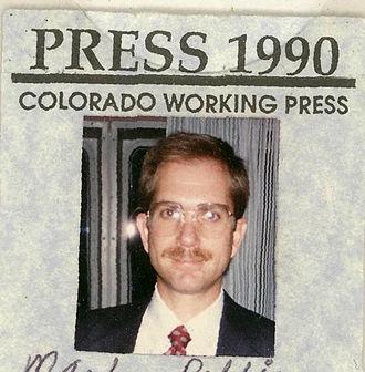 Press pass - A Denver press pass.