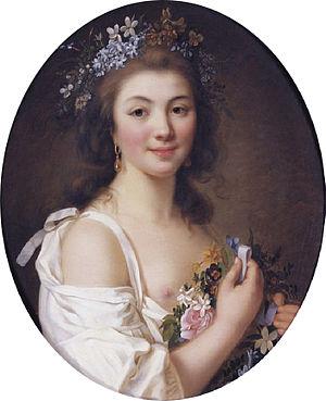 Stéphanie Félicité, comtesse de Genlis - Madame de Genlis, portrait by Jacques-Antoine-Marie Lemoine