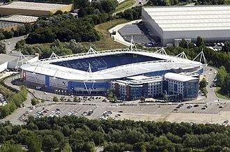 Madejski Stadium - Image: Madejski Stadium aerial, August 2014 (cropped)