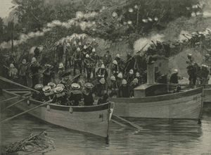 Military history of The Gambia - Drawing of the Madini Creek ambush in 1894.