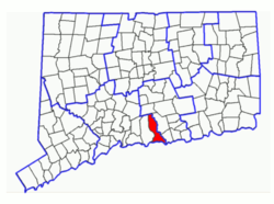 Location in Connecticut