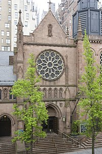A photo of the St. James' Episcopal Church, in New York