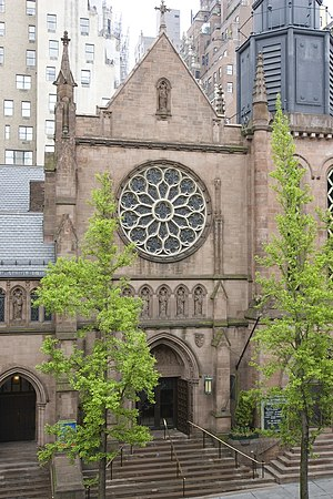 St. James' Episcopal Church (New York City) - Image: Madison Avenue entrance
