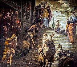 Le Tintoret: La Présentation de la Vierge au temple