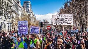 Podemos (Spanish political party) - Podemos supporters in Madrid, 31 January 2015