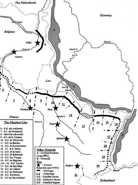 Maginot Line, The Defensive Line facing Germany (3/6)