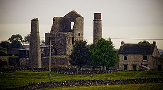 Derbyshire - The ruins of the Magpie Mine near Sheldon
