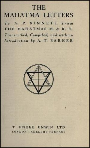 The Mahatma Letters to A.P. Sinnett cover
